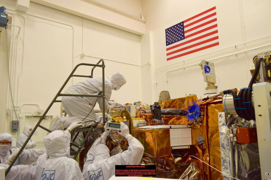 Inspection of the CERES FM6 Instrument on the NOAA-20 satellite