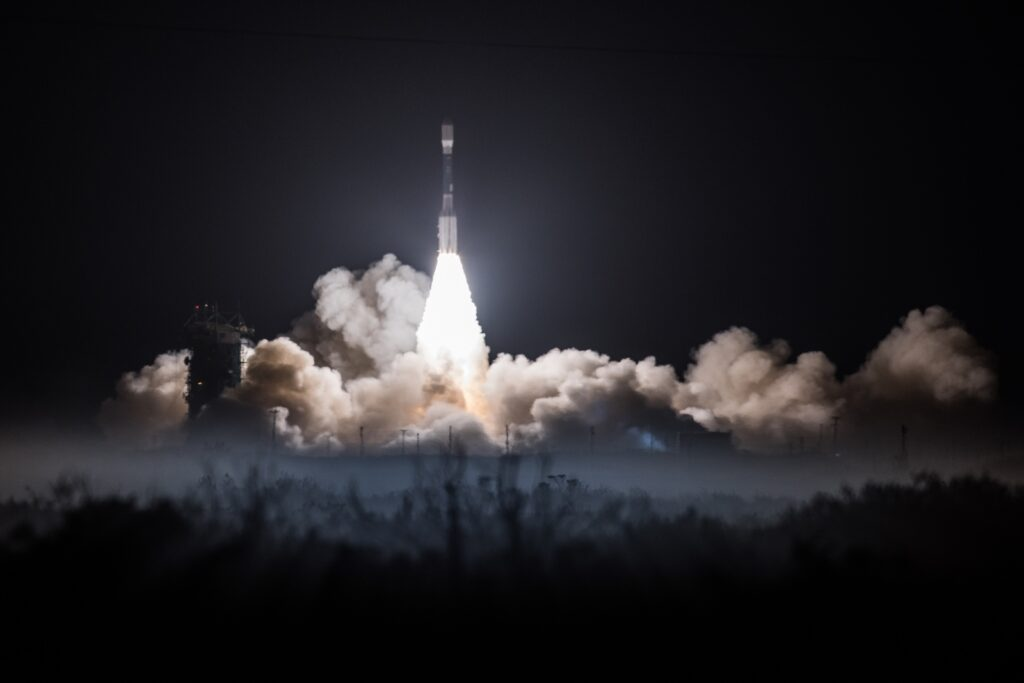 The National Oceanic and Atmospheric Administration's Joint Polar Satellite System (NOAA-20) blasted off the launchpad at Vandenberg Air Force Base