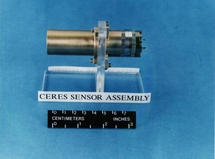 Exterior of CERES sensor assembly. Three such sensors (total, shortwave, and window channels) are installed in each CERES instrument.
